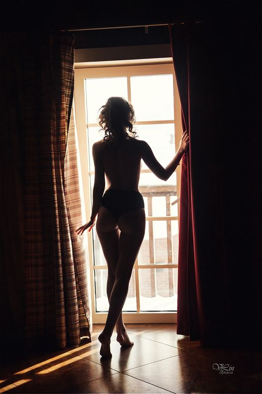 ню, девушка, красивая, эротика, утро, девушка у окна Good morning :-)photo preview