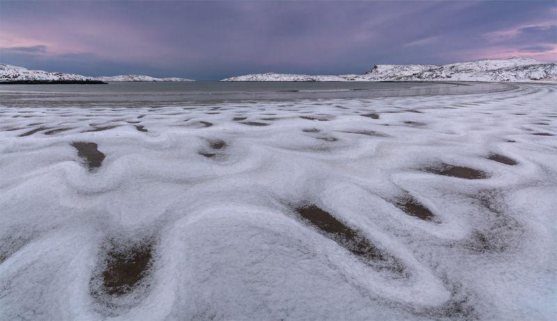 природа, пейзаж, север, кольский, панорама, природа россии, дикая природа, закат, свет, облака, вечер, тундра, зима Северphoto preview