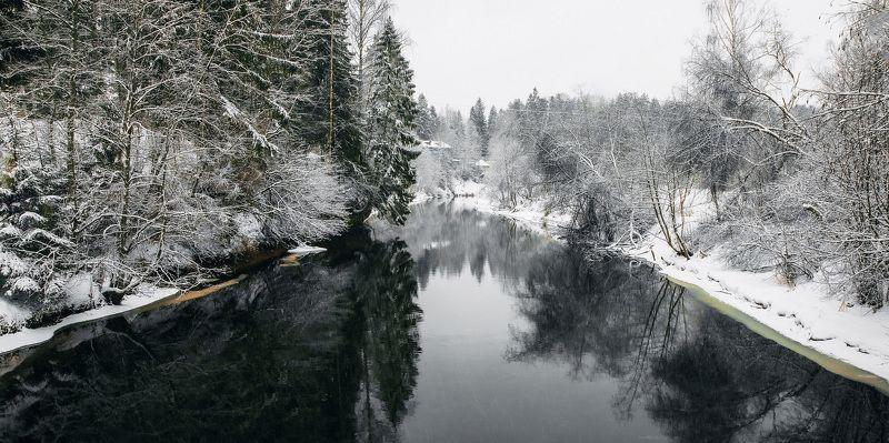 зима, река, день, снег, пейзаж Один зимний деньphoto preview