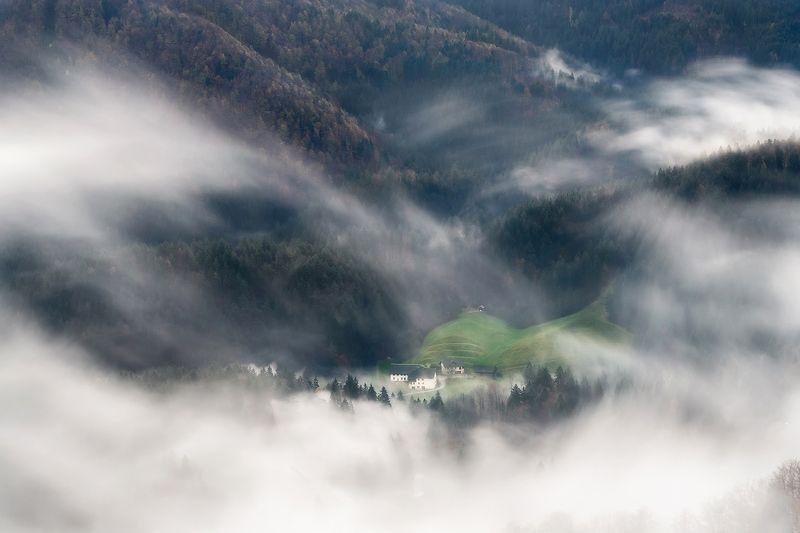 словения, slovenia, туманы словении, church, храмы словении, slovenia landscape, slovenia landscape photography Словенияphoto preview