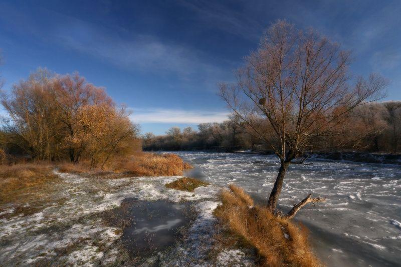 зима, река, лёд, мороз, иней ***photo preview