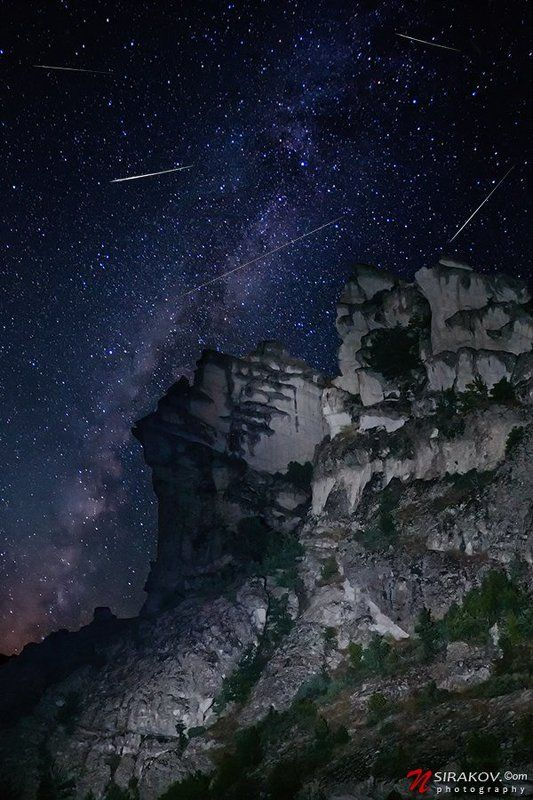Perseid shower  over Pirin mountainphoto preview
