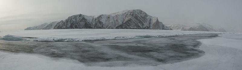 байкал лёд ледовая трещина становая щель Становаяphoto preview