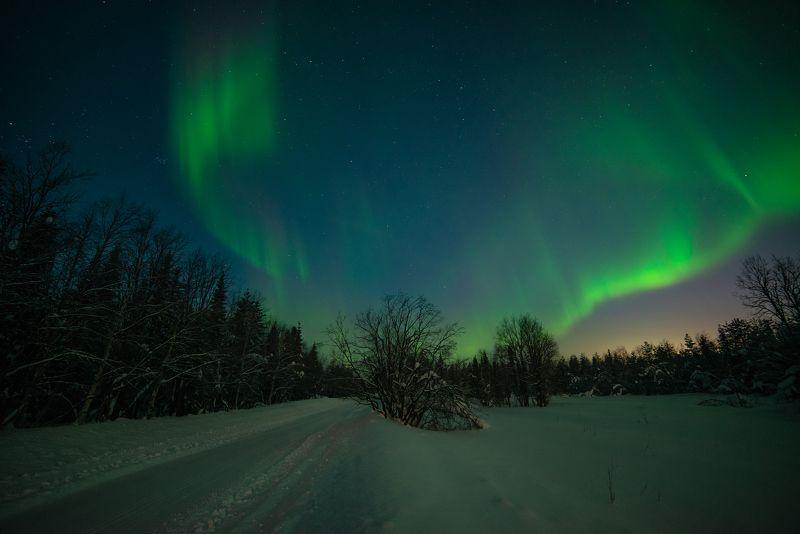 aurora borealis, северное сияние,хибины,север,кольский,заполярье,апатиты,мороз, В объятиях сияния.photo preview