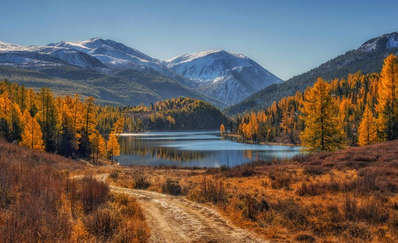 горный алтай,осень,утро,озеро кок-кёль Озеро  Кок-Кёль...photo preview