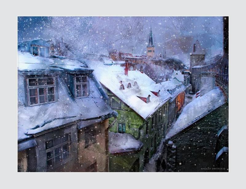 город зима эстония дмитрук музыка архитектура сказки января. крыши. Таллинphoto preview