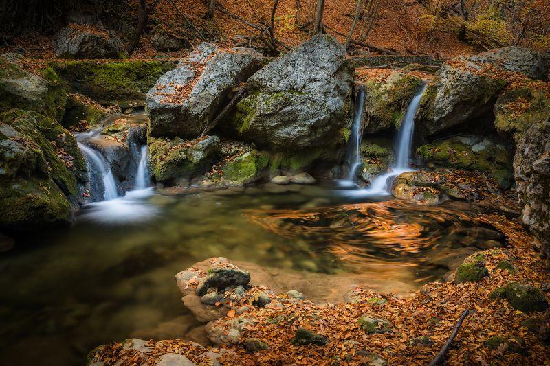 крым, пейзаж, осень, большой каньон, каньон, водопад, листья, Осень в Большом каньонеphoto preview