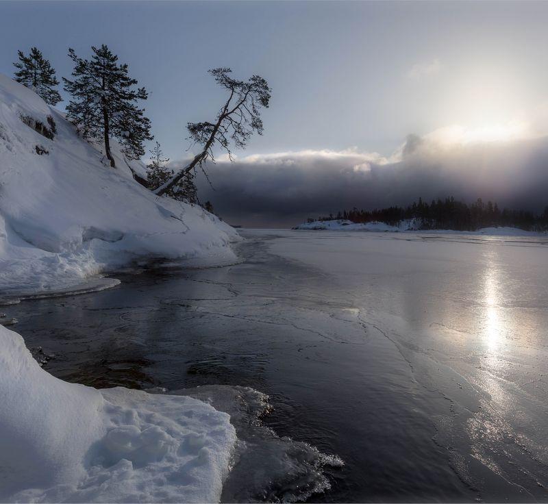 ладога, зима, шхеры, рассвет ,карелия Зима на Ладожском озереphoto preview