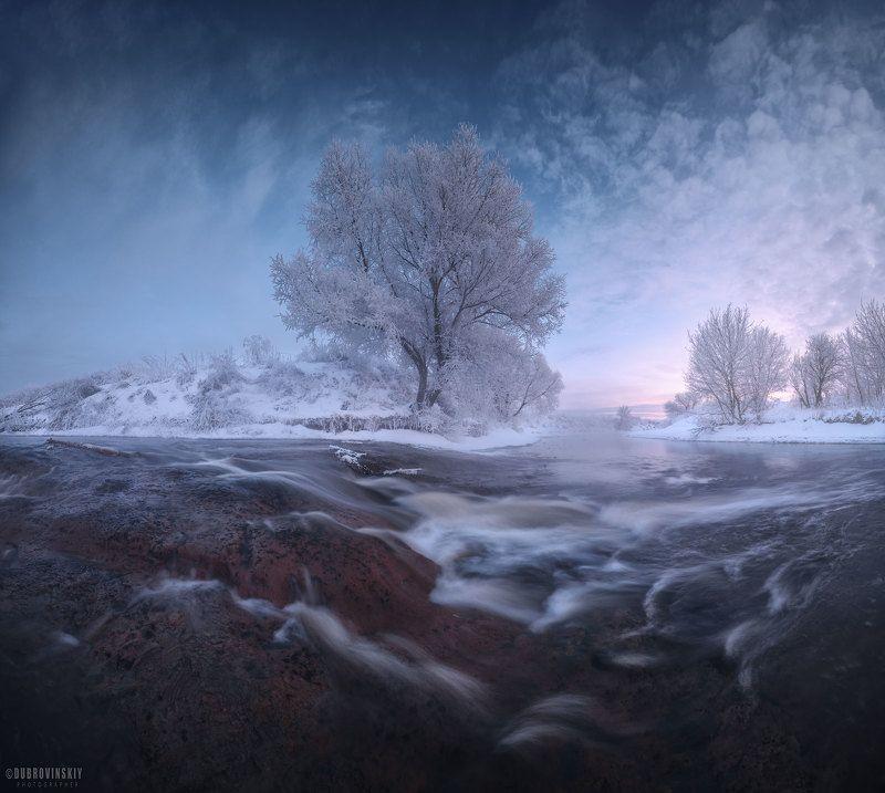 река, дерево, перекат, мороз, иней, рассвет, подмосковье Водопады подмосковьяphoto preview