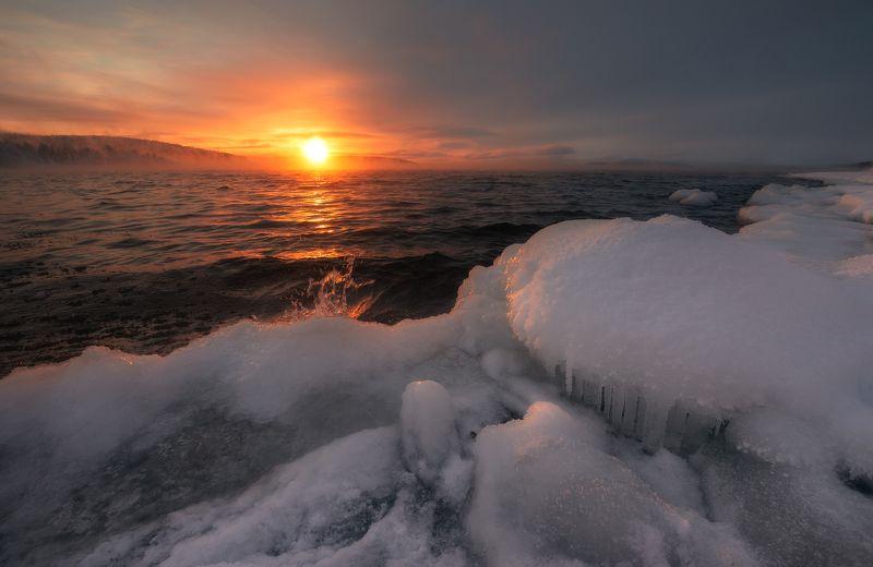 пейзаж,россия,кольский,север,закат,полярные зори photo preview