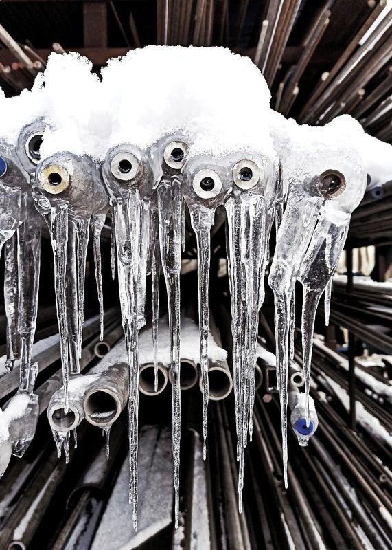 спб, питер, зима, снег, красота Слёзы сантехника.photo preview