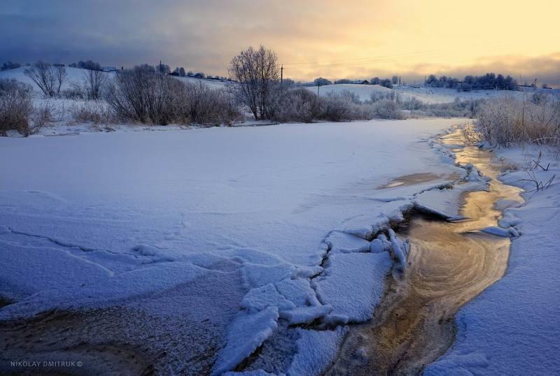 пейзаж, дмитрук, музыка морозный день. декабрьphoto preview