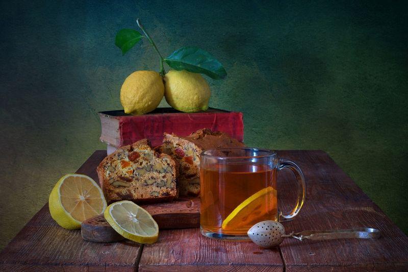 Про чай с лимонами и кексомphoto preview