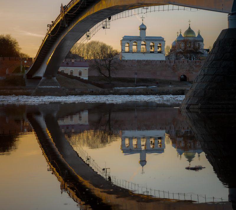 Софийский собор и звонница Новгородского детинца .photo preview
