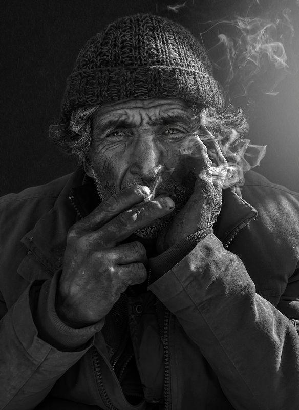 #portrait #people #skin #smoke #man #black #light #dark Light of My Lifephoto preview