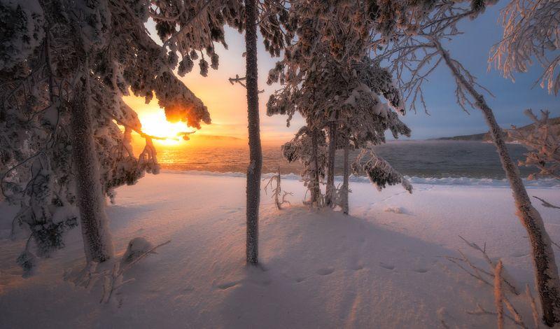 имандра,кольский,север,россия,вода,озеро,панорама,мурманская область photo preview