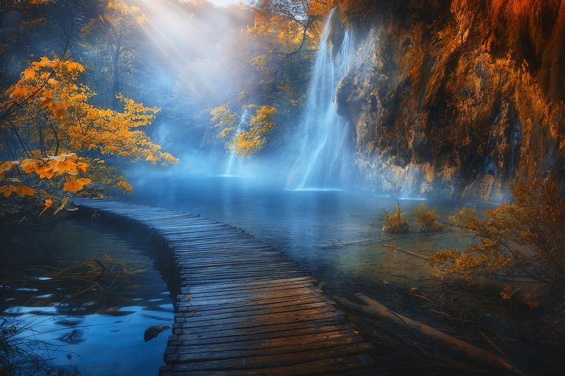 plitvice, lakes, croatia, waterfall, autumn, landscape,  plitvice lakes фото превью