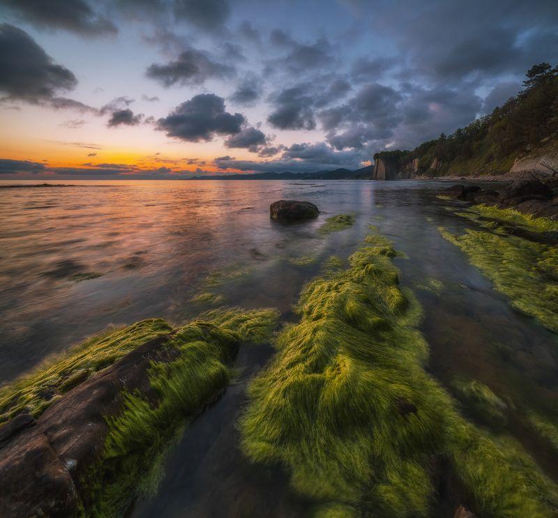 черное море, туапсе, скала киселёва, май, закат На Черном море месяц майphoto preview