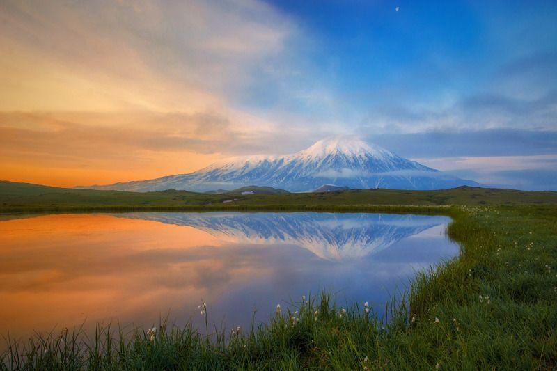камчатка,толбачик,рассвет,вулкан,kamchatka,vulkan занималась заряphoto preview