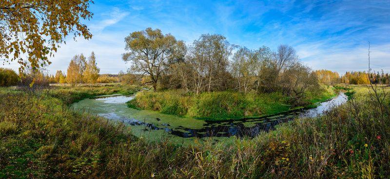 осень, река, лес, Клязьма Осень в верховьях Клязьмыphoto preview