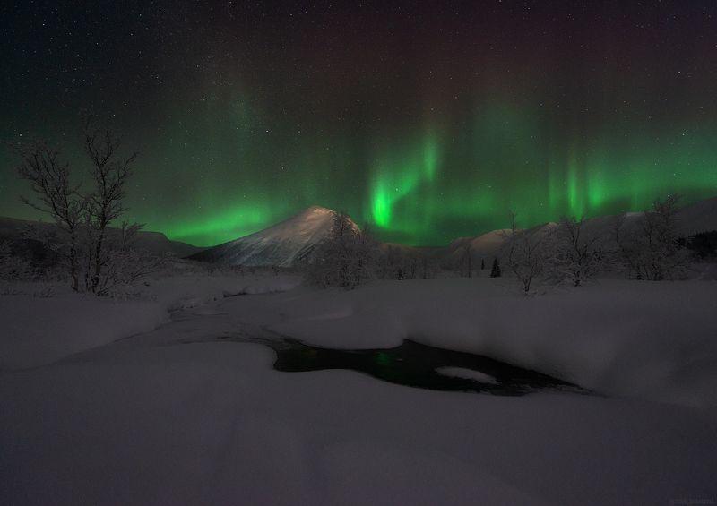 пейзаж,хибины,кольский,север,река,ночь,звезды,горы Долина Малого Вудъявраphoto preview