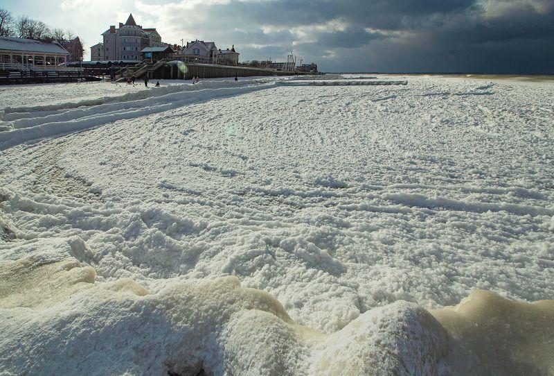 Морозный прибой. Балтийское море. Февральphoto preview