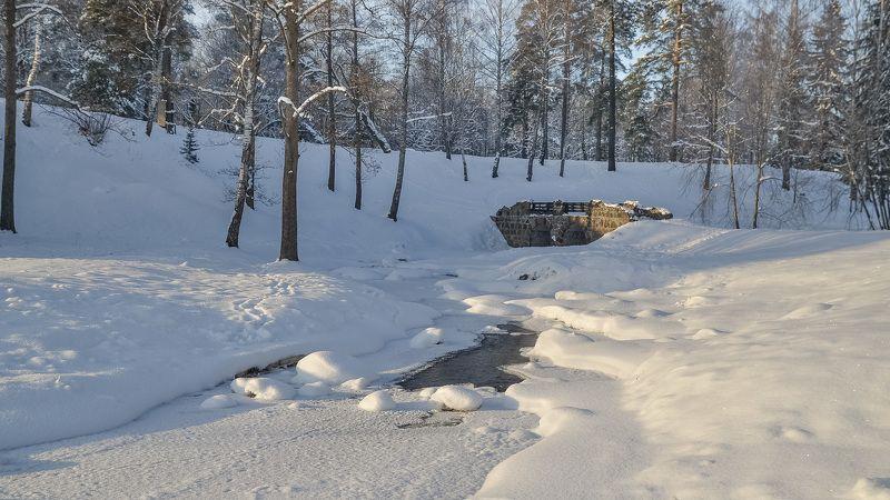 зима, мороз, снег, красота, тишина, парк, питер Каменный мост.photo preview