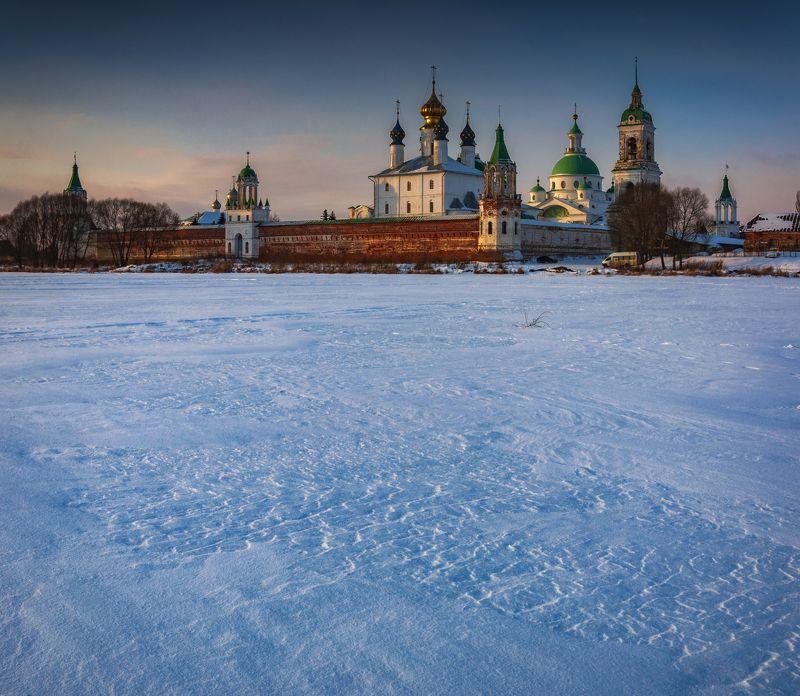 зима,пейзаж,природа,снег,закат,монастырь,золотоекольцо Зимний закатphoto preview
