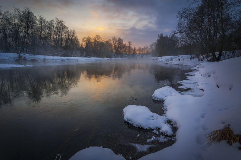 туман, московская область, утро, природа, пейзаж Утро на р. Истраphoto preview