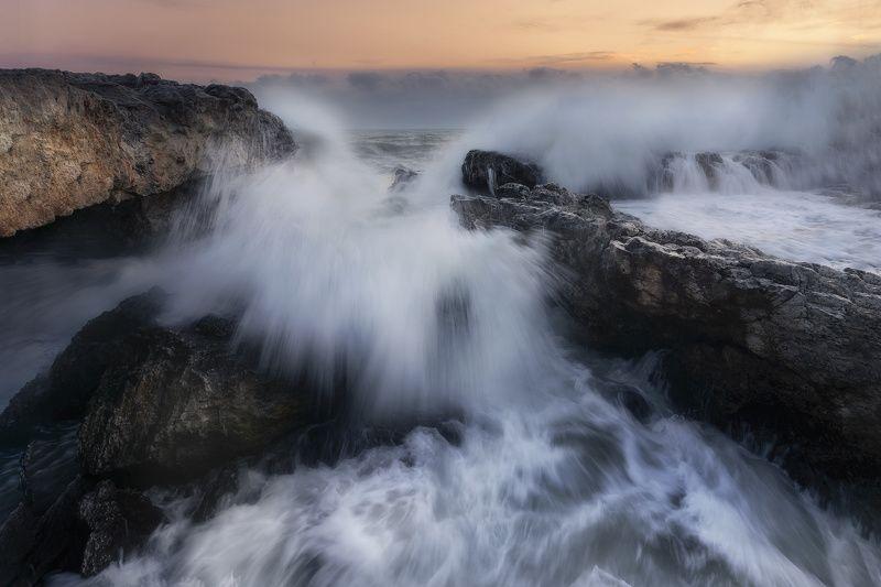 Black sea wintertime photo preview