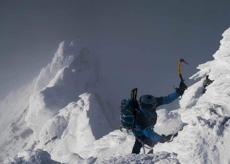 winter, climbing, mountaineering, snow, male, action, ascent Beauty of winter photo preview