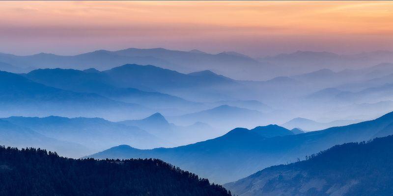Непал, Гималаи, горы, закат, туман, Лангтанг Ритм горphoto preview