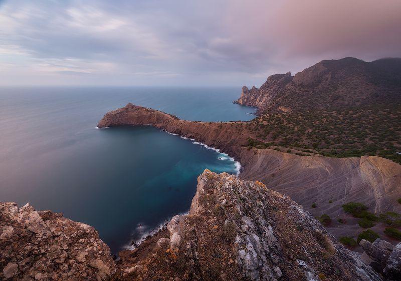 крым море гора закат новыйсвет капчик рассвет Капчикphoto preview