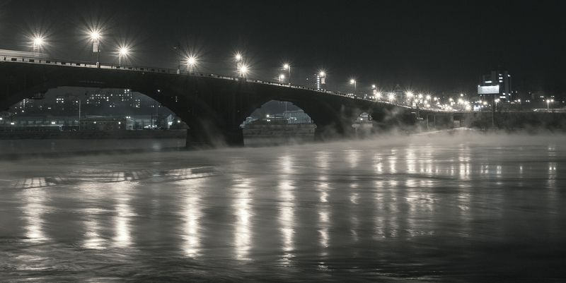ангара старый иркутский глазковский мост Туман воспоминанийphoto preview