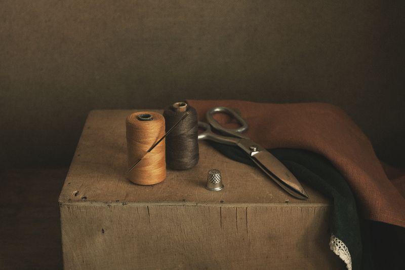 натюрморт, минимализм, шитьё, нитки, мастерская, ткачество photo preview
