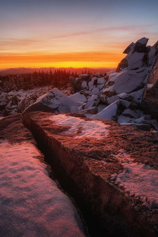 закат, зима, зюраткуль, урал, южный урал Затерявшись в Скайримеphoto preview