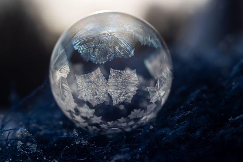 мыльные пузыри мороз зима снежные узоры Замороженные мыльные пузыриphoto preview