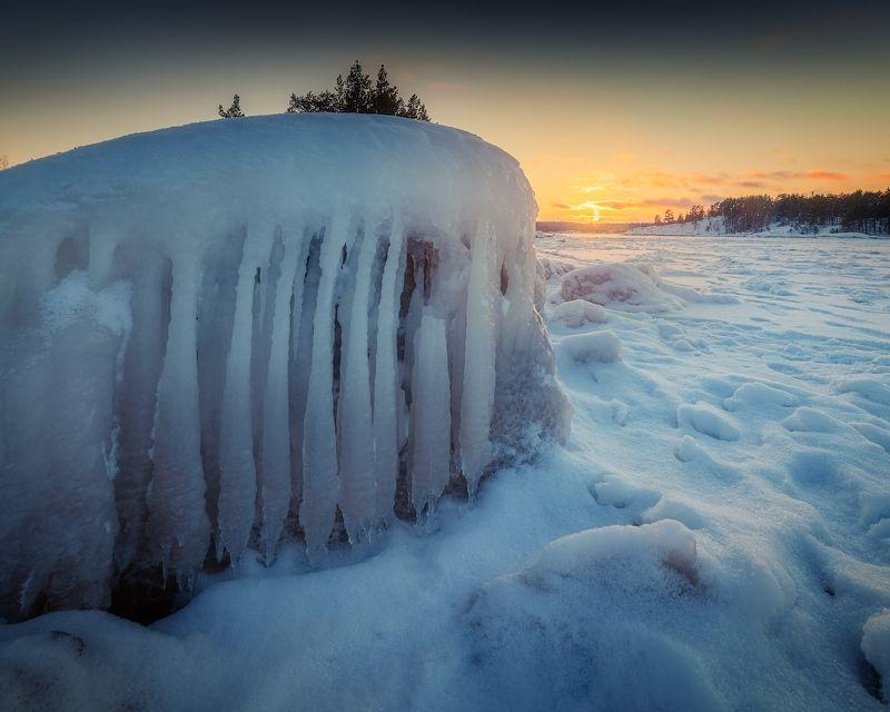 карелия, зима, ладога, шхеры ***photo preview