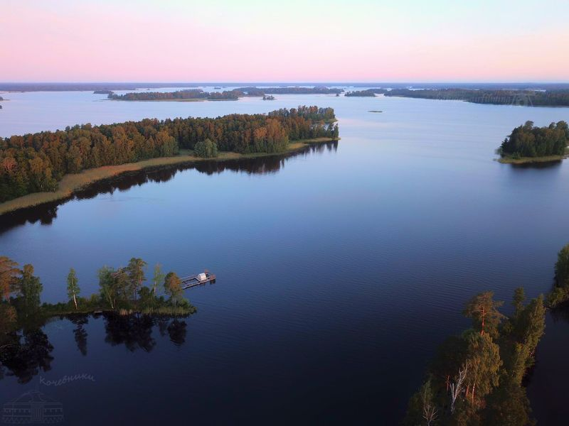 озера, карелия, аэросъемка Вуоксаphoto preview