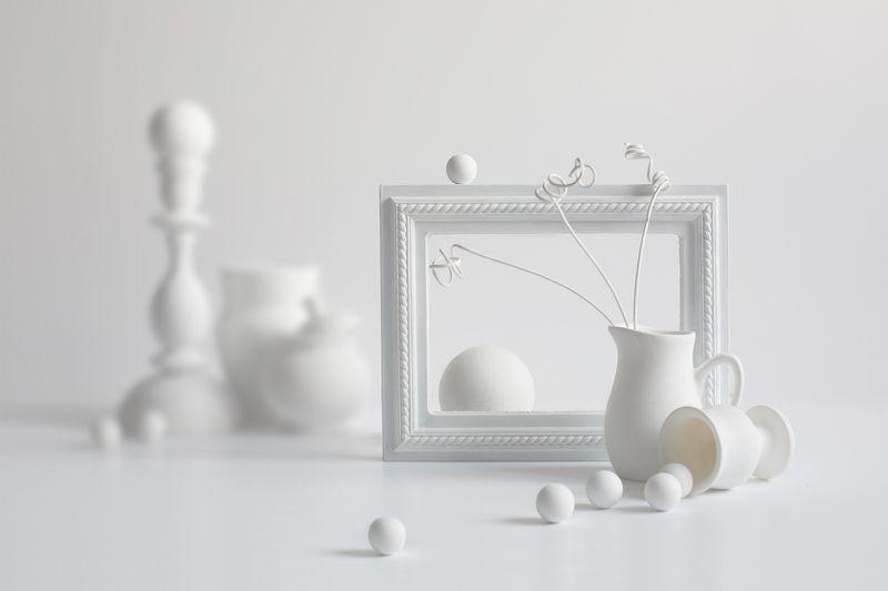 миламиронова, фотонатюрмор, белый, цвет, фигуры Pro белое на белом...photo preview