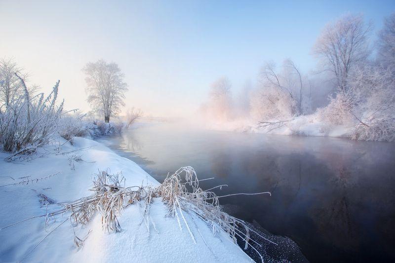 Морозное утро на реке Ижphoto preview