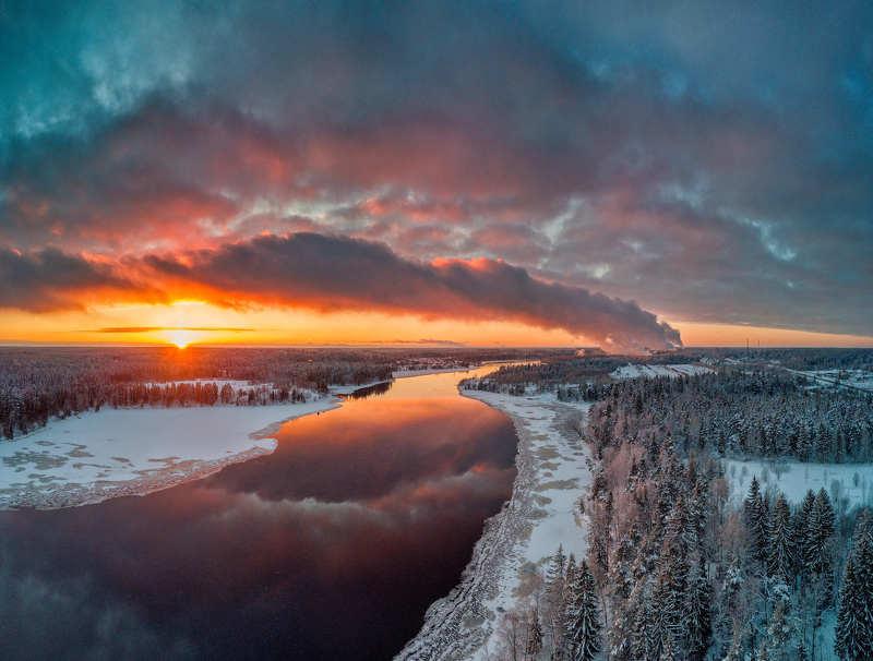 Февральский закат.photo preview