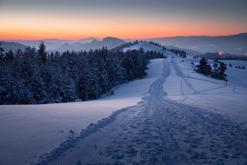 mountains, winter, poland, slovakia, evening Evening in the Mountainsphoto preview