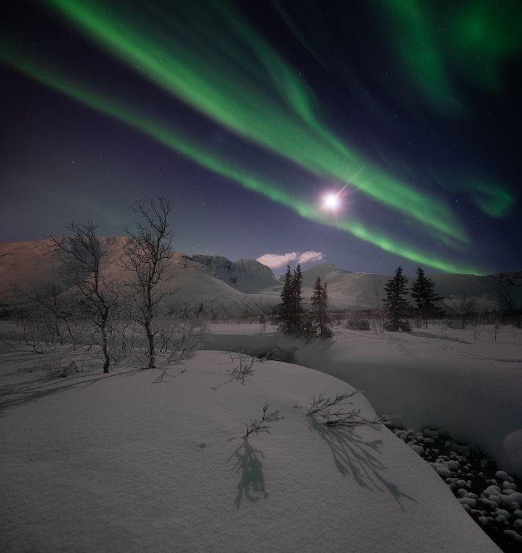 пейзаж,ночь,россия,хибины,кольский,север,сияние Хибиныphoto preview