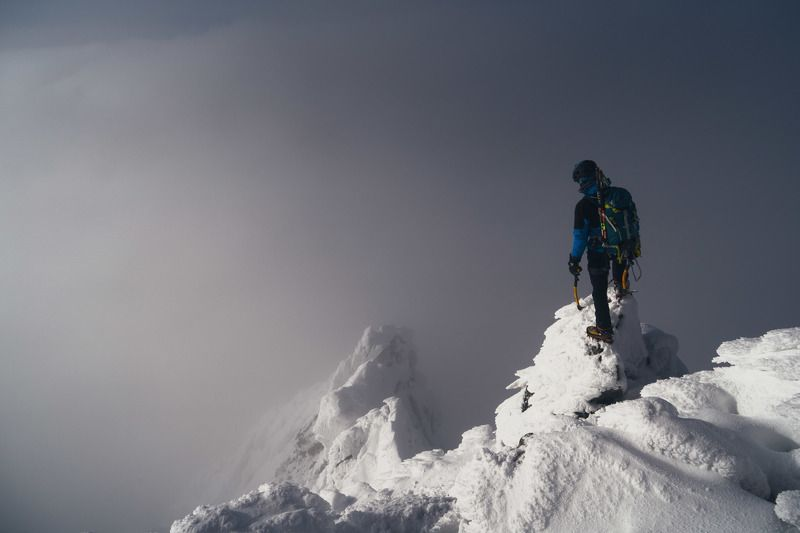 epic, winter, climbing, fog, snow, freeze Into the voidphoto preview
