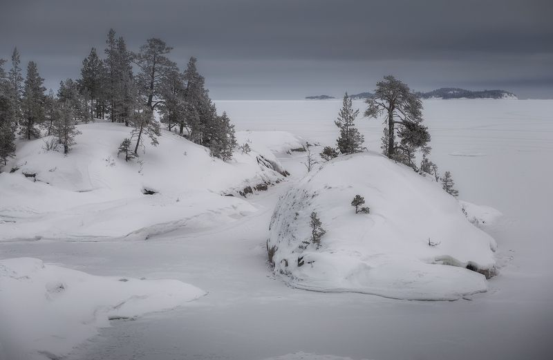 карелия, ладога, шхеры, зима ***photo preview