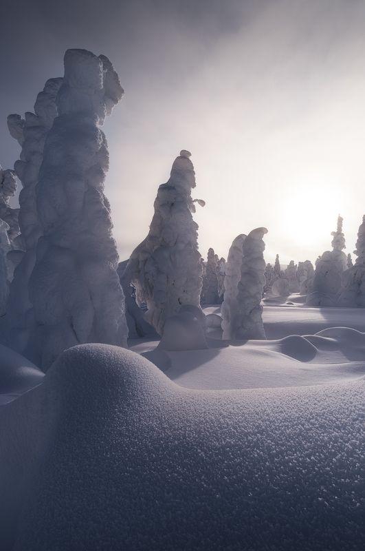 рассвет, главный уральский хребет, гух, зима, урал, северный урал Застывшие в безвременьеphoto preview