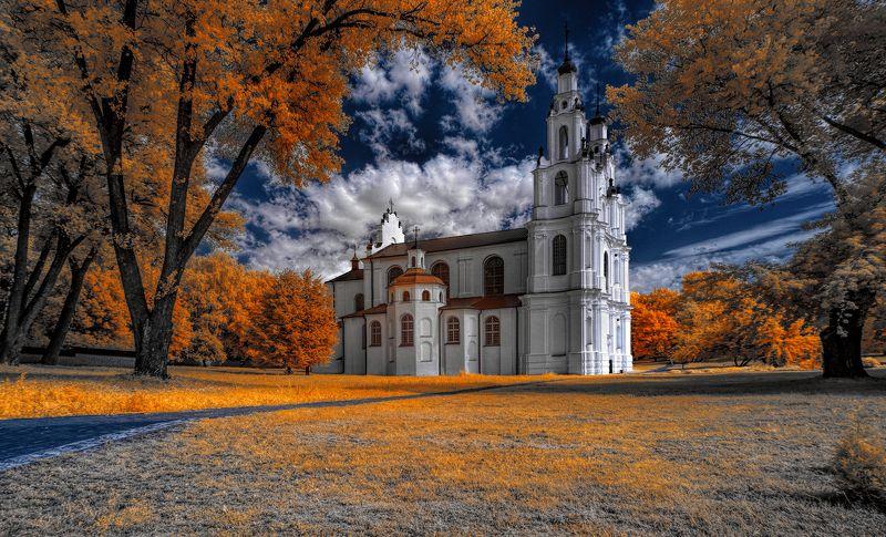 infrared,ик-фото,инфракрасное фото, инфракрасная фотография, пейзаж, лето У древней Софии.photo preview
