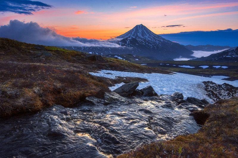 камчатка,вилючинский,рассвет,вулкан,kamchatka,vulkan непостоянство состояний водыphoto preview