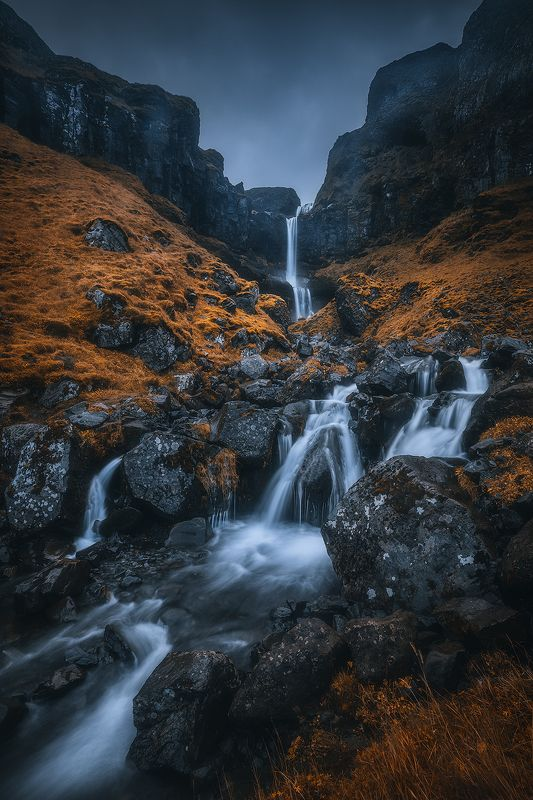 iceland, waterfall, long, exposure, mood, landscape  baejarfoss фото превью